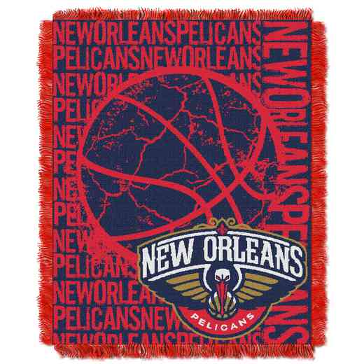 1NBA019040003RET: NBA  JACQUARD THROW, Pelicans